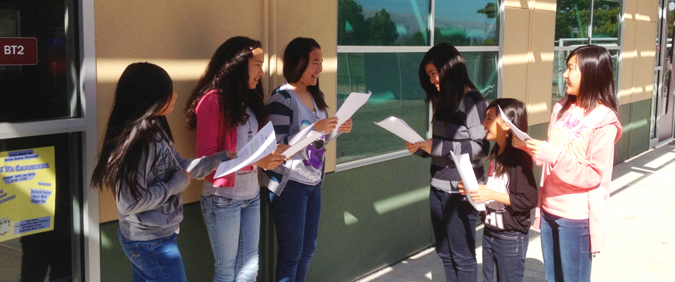 Students outside
