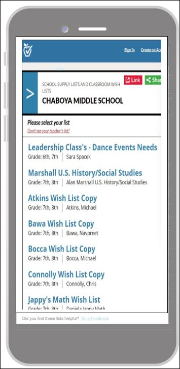 Chaboya - School News: Classroom Wish Lists Now Available Online